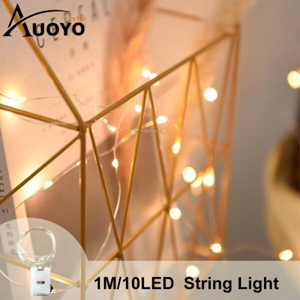 Bảng giá Auoyo Dây đèn Đèn trang trí Led Đom Đóm trang trí tết giáng sinh phòng ngủ Chipsbling Fairy Lights đồng dài 1M 10LED Strip Light String Fairy Light Christmas Gift Decor Lights Battery Operated Copper Wire 3 Mode