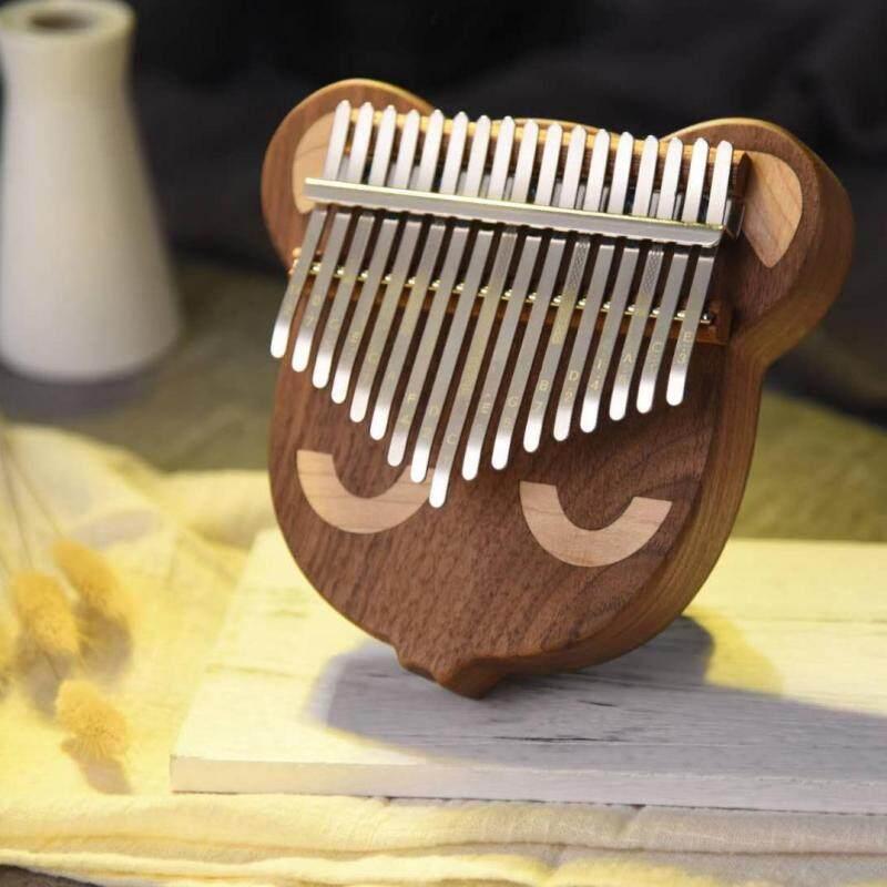 17 Key Thumb Piano Kalimba Bear Face Black Walnut Mbira with Tuning Hammer Malaysia