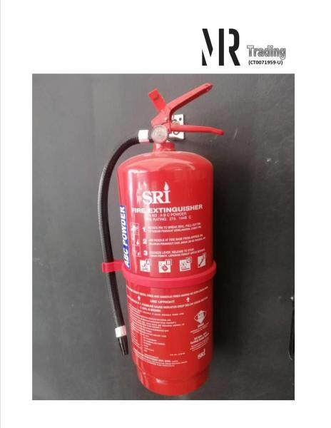 SIRIM Certified SRI 9KG ABC Dry Powder Type Fire Extinguisher for commercial & home use