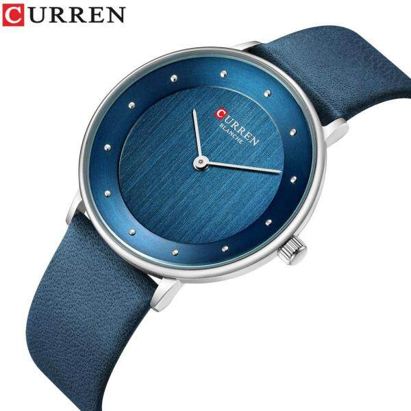 CURREN Womens Watches Luxury Leather Ladies Quartz Wrist Watch Casual Elegant Water Resistant Shockproof Watch Malaysia