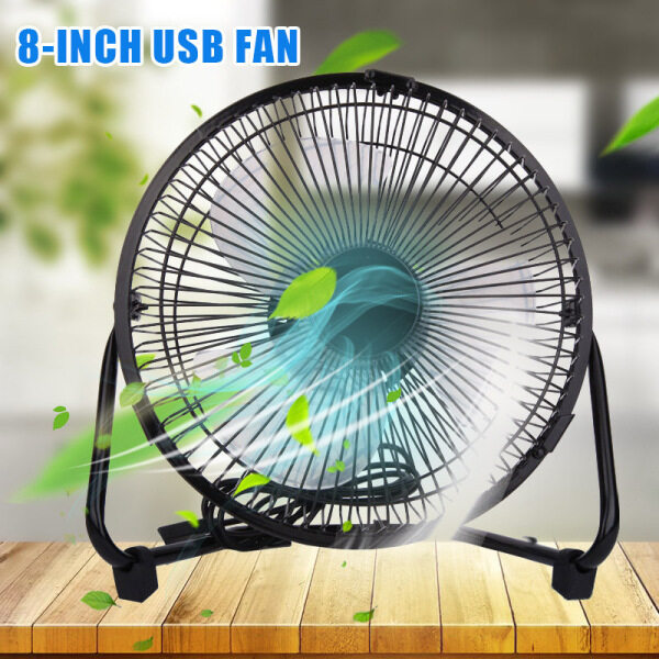 SHAS 6/8/10 Inch Brushless Electrical USB Fan 360 Degree Rotatable Ultra Silent Laptop Cooler Fans