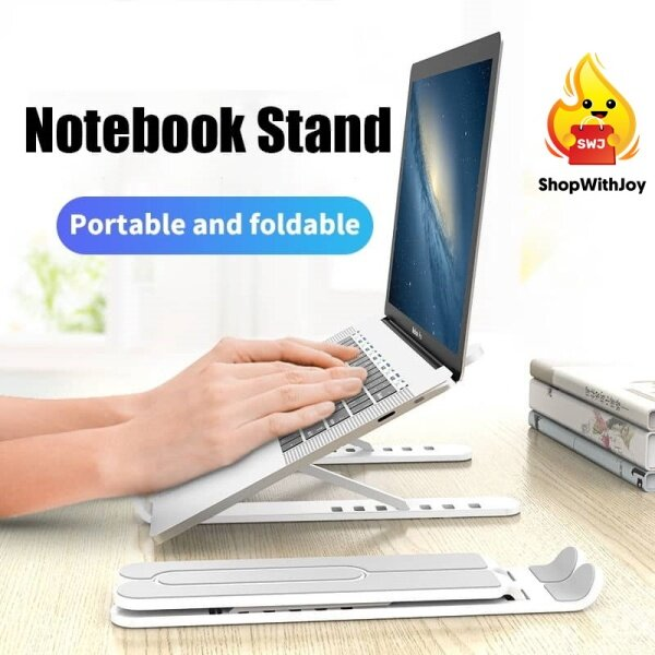 【Msia Stock】 ABS Adjustable Laptop Stand Laptop Holder Foldable Laptop Rack Computer Lift Booster Cooling Rack Carrier Malaysia