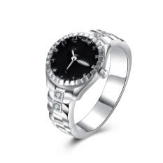 ล่าสุดเดือนLowerราคาความคิดสร้างสรรค์เพชรDialนาฬิกาควอตซ์แหวน