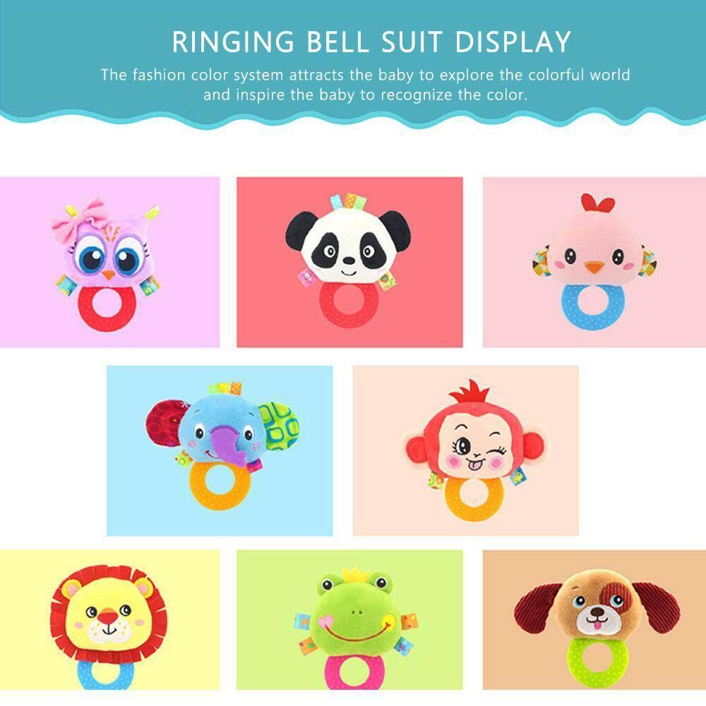 Image 4 for OutFlety เครื่องเล่นที่เขย่าแล้วมีเสียงสำหรับเด็กแรกเกิดกระดิ่งของเล่นเด็กวัยหัดเดินทารกแหวน Interactive น่ารักการ์ตูนสัตว์ของเล่นตุ๊กตาการศึกษาช่วงต้นของทารกของขวัญ