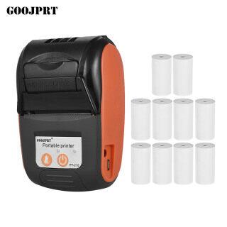 (Miễn phí 10 cuộn giấy) GOOJPRT Máy in nhiệt Bluetooth dễ mang đi PT-210 máy in biên lai cầm tay 58 mm cho các cửa hàng bán lẻ nhà hàng hậu cần nhà máy kèm 10 cuộn giấy thumbnail