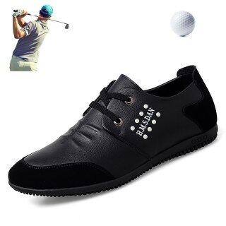 Giày Golf Da Bò 2021 Giày Tập Thể Thao Nam Giày Chống Trượt Chơi Golf Golf Sneakers Cỏ Giày Thể Thao thumbnail