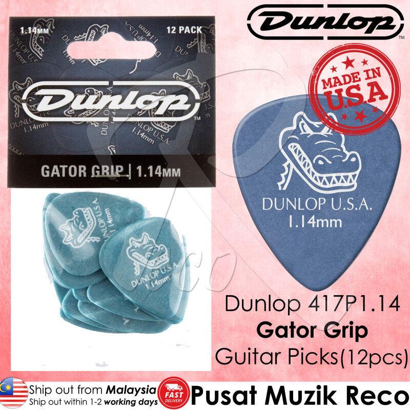 Dunlop 417P114 Gator Grip Guitar Pick 1.14mm Guitar Picks Player Pack MADE IN USA (12pcs) Malaysia
