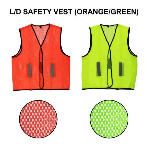 66 Happy Tool Ready Stock L/D Safety Vest Reflective Coat Orange Green Netting Jaket Keselamatan