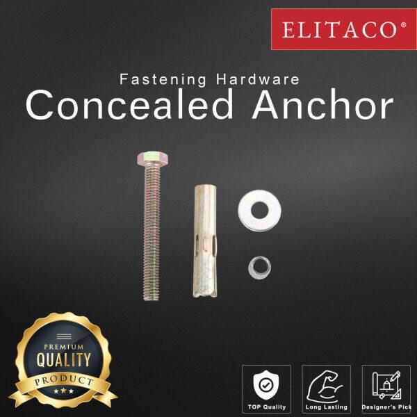 【ELITACO】Concealed Sleeve Anchor Wall Plug Hex Nut Head Wedge Expansion M6 M8 M10 1/4'' 5/16'' 3/8'' Thread