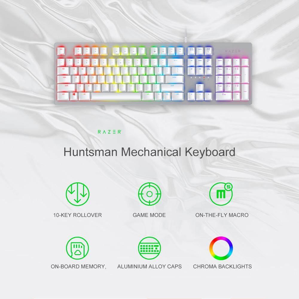 Razer Huntsman Mechanical Keyboard Gaming Opto-Mechanical Switch 104 Keys RGB Backlight Wired Keyboard Silver Singapore