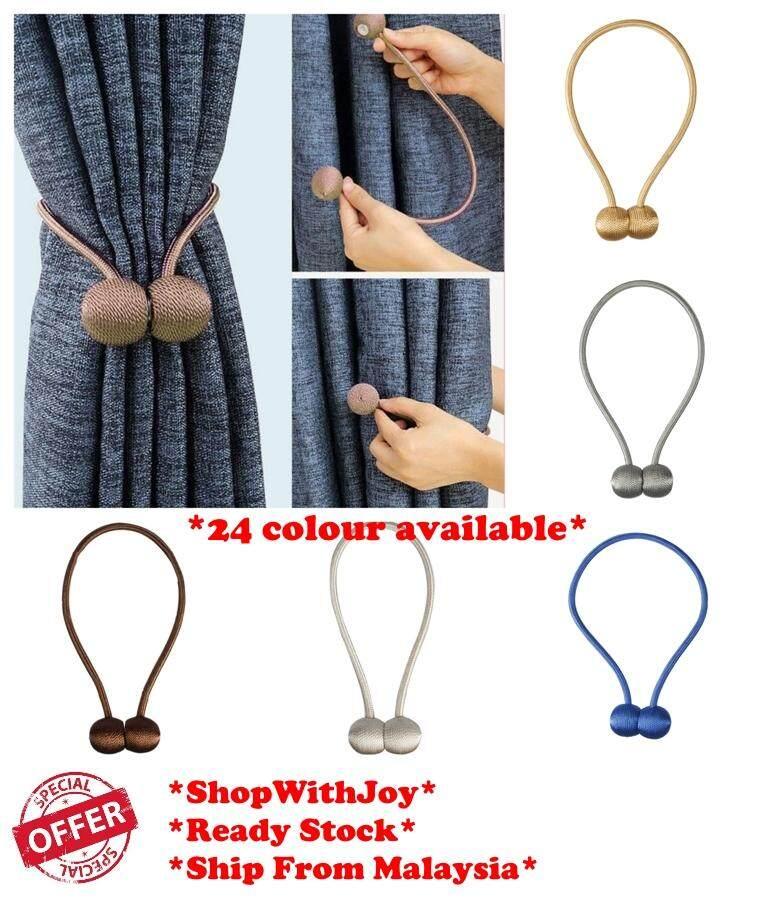 【Msia Stock】Magnetic Curtain Tie Backs Hook Buckle Household Useful Decor Tool Tieback