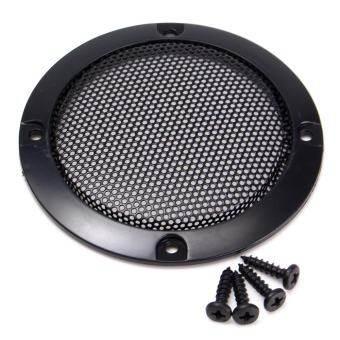 LEORY 1 PC 3  นิ้วกล่องเสียง Grille ลำโพงฝาครอบป้องกัน Nets ลำโพงรถยนต์เครื่องขยายเสียงตกแต่งวงกลมสุทธิหน่วย