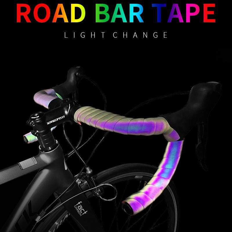 Bicycle Handlebar Tape Light Reflective Bike Bar Tape Road Bike Tape Wrap Pu Leather Cycling Handlebar Tapes Bicycle Accessories