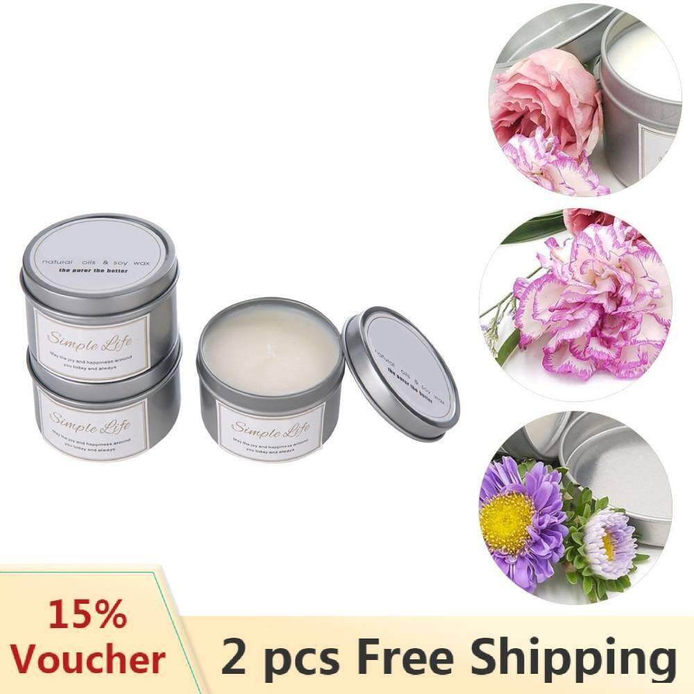 [golden seller] Welovee 3Pcs Lavender Freesia Blue Water Lily Soy Wax Scented Candles Gift Home Decoration