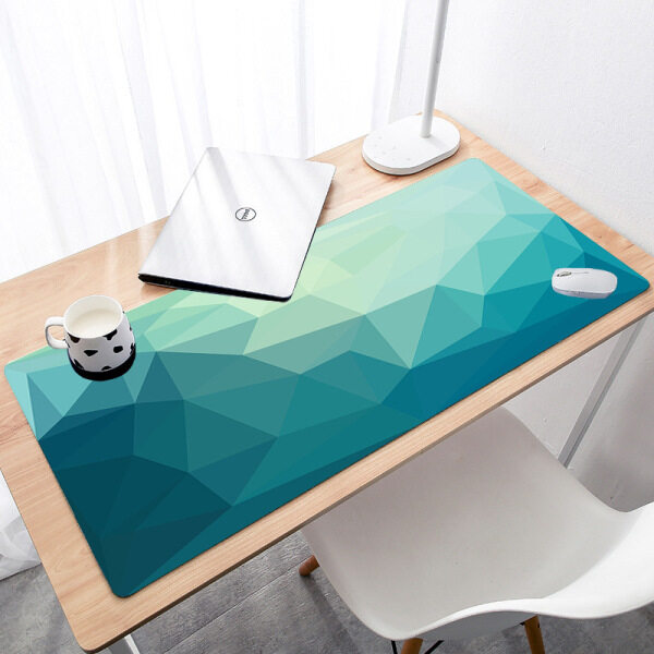 Triangle Geometric Patteren Office Mice Gamer Soft Mouse Pad BIG SIZE Rubber PC Computer Gaming mousepad desk pad Malaysia