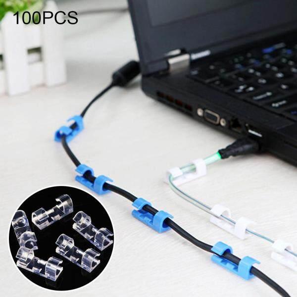 Bảng giá Chất lượng cao 100 chiếc cáp cố định Clip dây tổ chức với chất kết dính giao màu ngẫu nhiên Phong Vũ