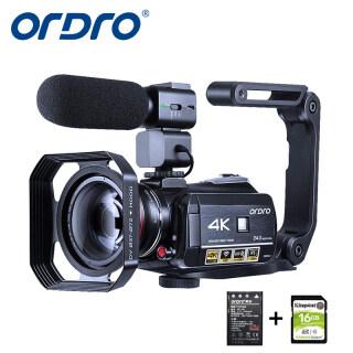 Máy Quay Phim 4K Máy Ảnh Vlogging HDR-AC3 ORDRO Cho YouTube Camera Video Ultra HD Máy Ghi Hình Camera Wi-Fi Tầm Nhìn Ban Đêm IR 1080P 60 Khung Hình Giây Máy Quay Kỹ Thuật Số Có Micrô, Ống Kính Góc Rộng Cầm Tay Ổn Định thumbnail
