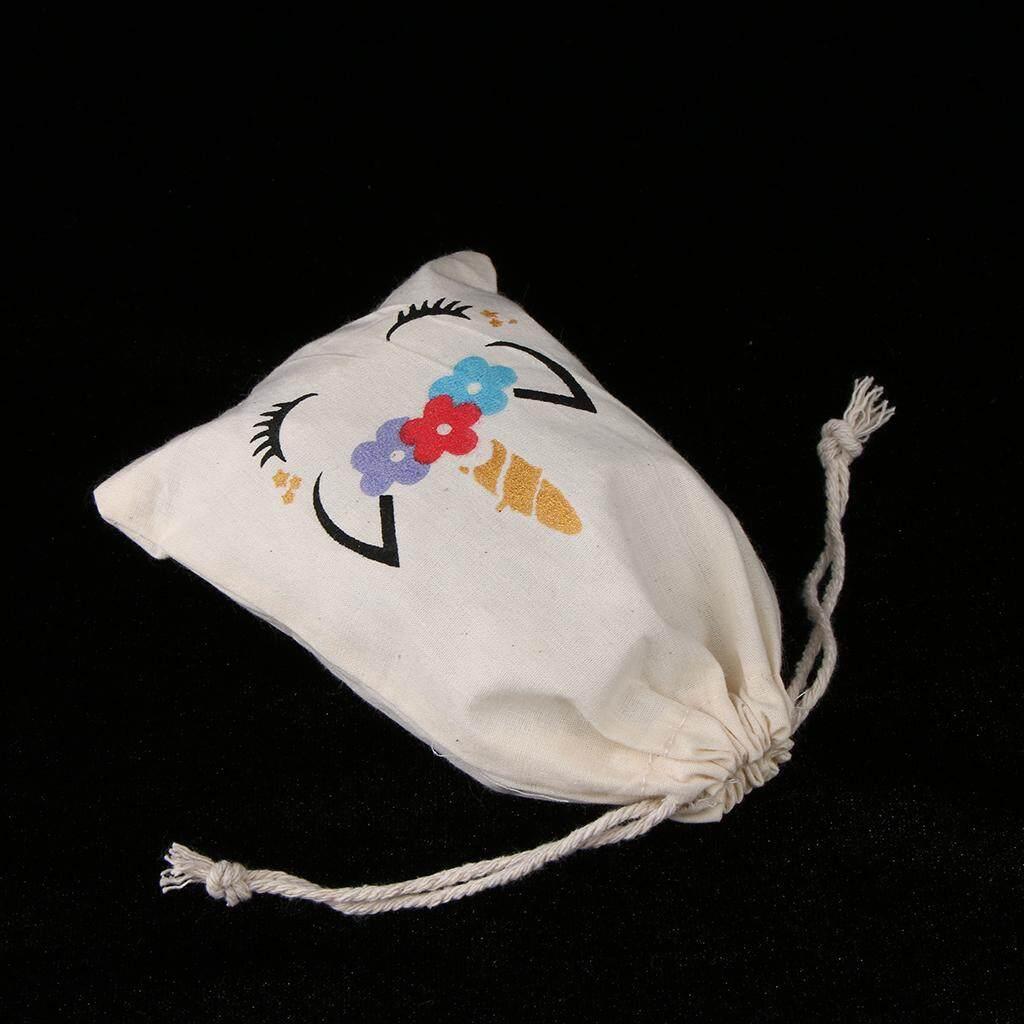 Bolehdeals 6pcs Unicorn Cotton Linen Jewelry Pouch Drawstring Candy Bag Wedding Favor By Bolehdeals.