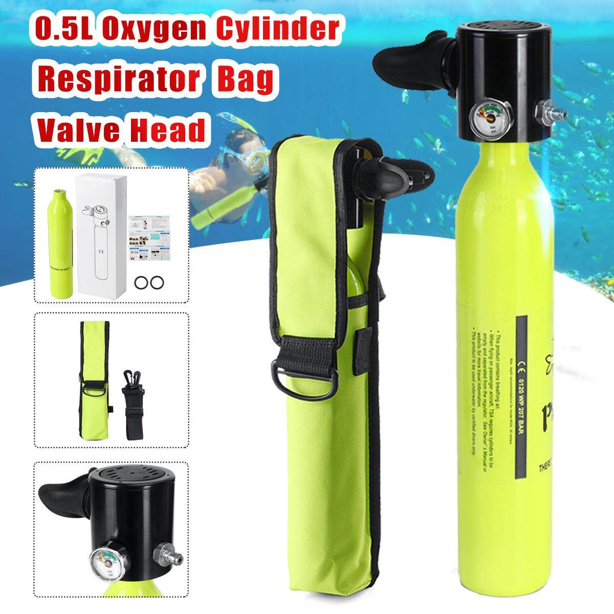 Surfing & Diving Mini Swimming Scuba Diving Oxygen Cylinder Tank Bag Holder Respirator Bag Scuba Diving Pool Equipment Accessory