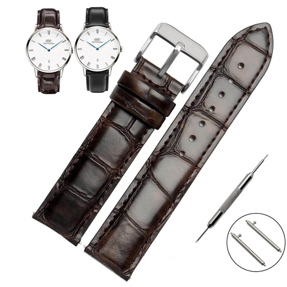 17mm Watch Band Calf Leather Padded Replacement Strap Quick Release Leather Watch Band 34mm Genuine Leather Watch Bands Top Calf Grain Leather York Reading Classic Silver buckle Malaysia
