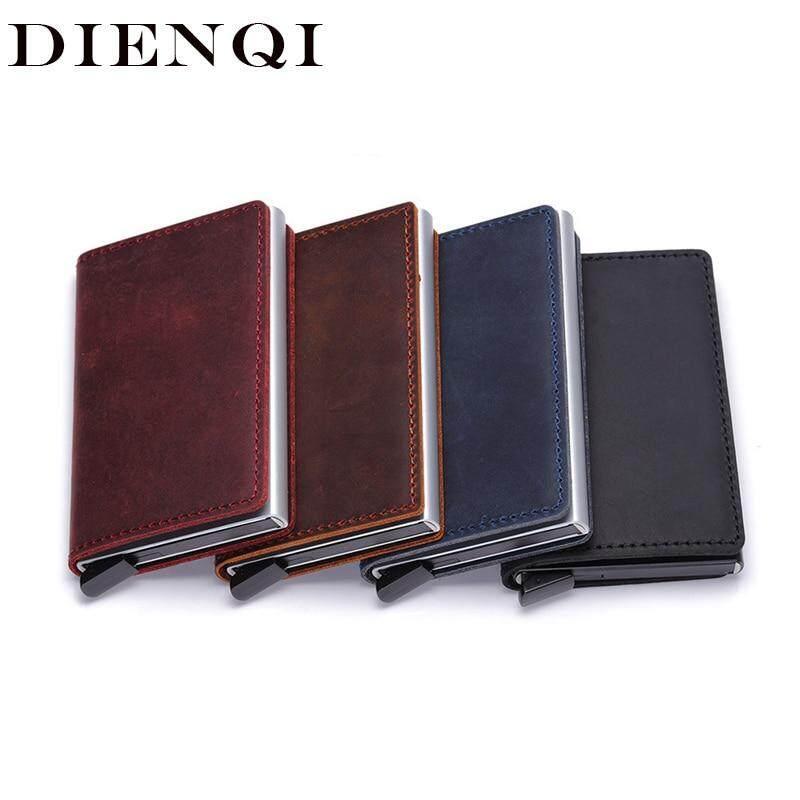 Genuine Leather Men Wallets Card Holder Rfid Mini Smart Wallet Small Purse Money Bag Thin Slim Wallet Male cartera hombre walet