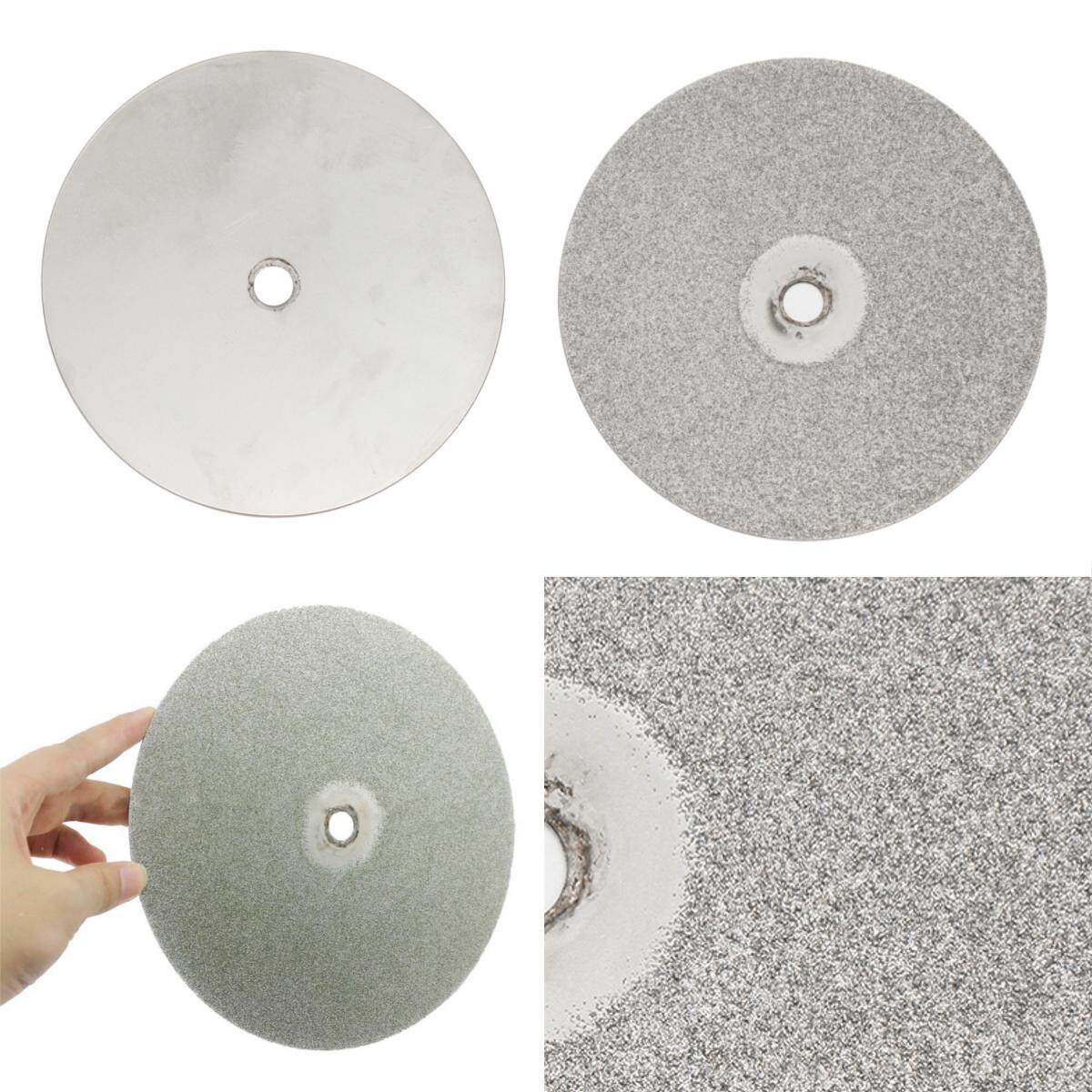 8 Inch Grit 80# Diamond Coated Flat Lap Wheel Jewelry Lapidary Polishing Disc