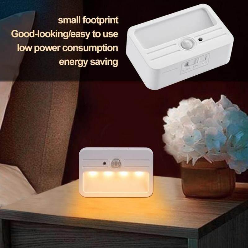 Đèn LED Tủ Viugreum Đèn Cảm Biến Chuyển Động Điều Khiển Bằng Ánh Sáng Đèn Ngủ Chạy Bằng Pin Để Chiếu Sáng Bàn Làm Việc Cầu Thang Tủ Quần Áo