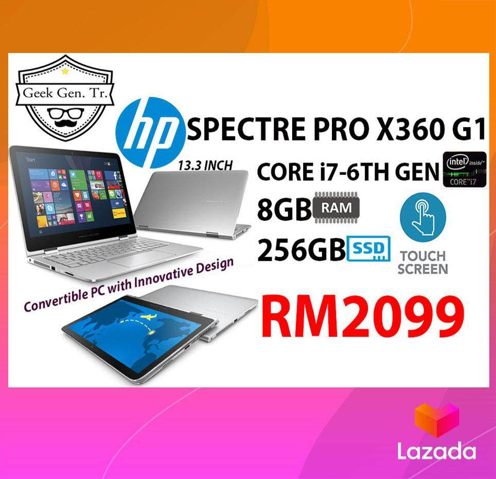 HP SPECTRE PRO x360 G1 2 IN 1 TOUCHSCREEN CORE i7-6TH GEN 8GB RAM 256GB SSD 13.3 INCH Malaysia