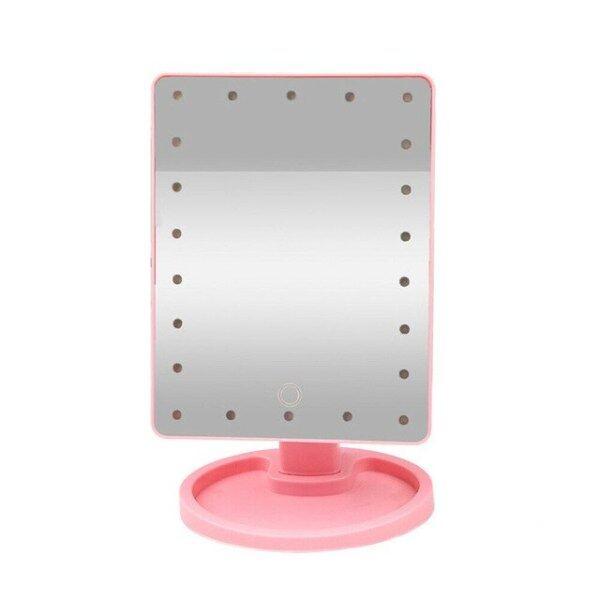 Gương Trang Điểm LED Gương Màn Hình Cảm Ứng Với 22 Đèn LED Giá Đỡ Gương Trang Điểm Sáng Có Thể Điều Chỉnh, Cho Phòng Tắm Để Bàn