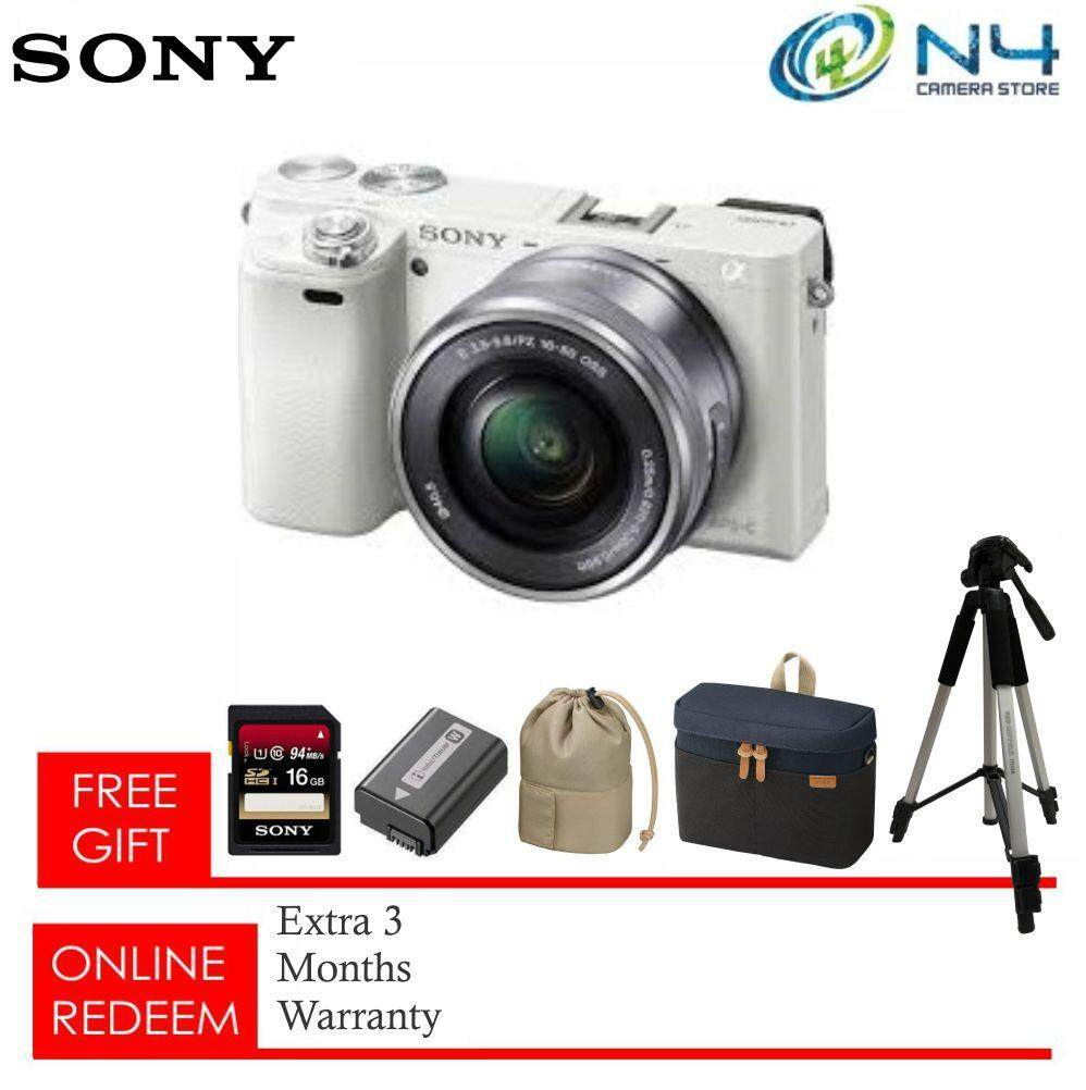 Sony A6000 + Card (16GB) + Battery + Original Sony Bag & Pouch + Tripod  (Sony Malaysia Warranty)(Grab Voucher Before Check Out)