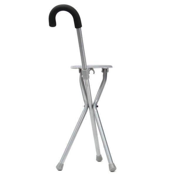 Outdoor Travel Folding Seat Cane Walking Stick Portable Stool Chair
