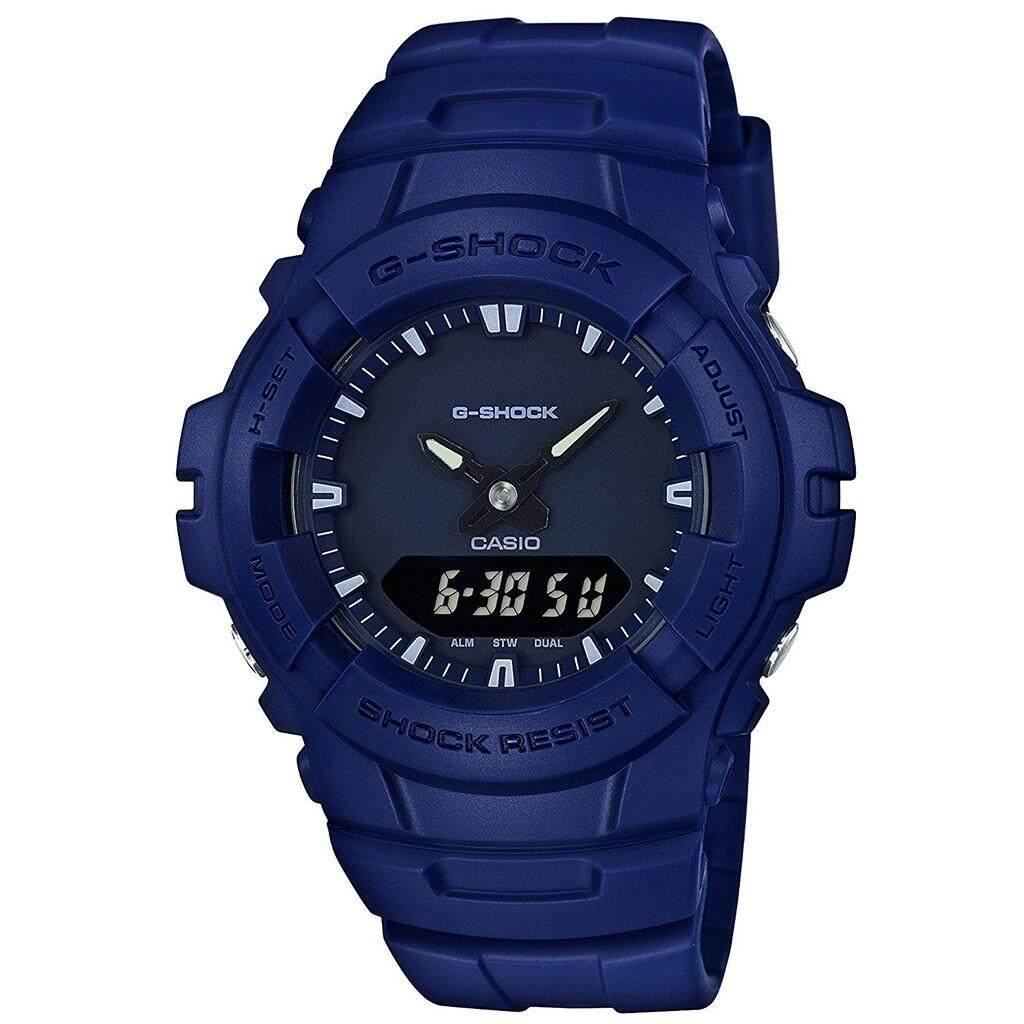 พระนครศรีอยุธยา 【 STOCK】Original _ Casio_G-Shock G100 Duo W/เวลา 200M กันน้ำกันกระแทกและกันน้ำโลกนาฬิกากีฬาไฟแอลอีดีอัตโนมัติ Wist นาฬิกากีฬาสำหรับ MenBlack G-100