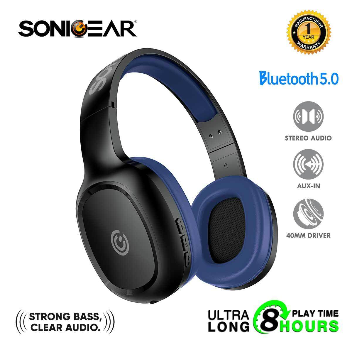 SonicGear AirPhone 3 Bluetooth Headphones With Mic For Smartphones and Tablets