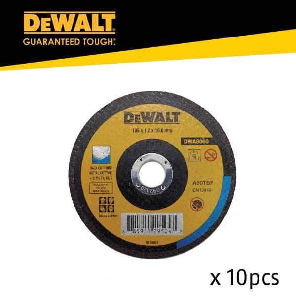 Dewalt DWA8060 100 x 1.2 x 16mm Inox Metal Cutting Wheel - 10pcs