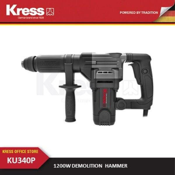 KRESS KU340P 1200W Demolition Hammer with high-power and strong power motor - 6 months local warranty included