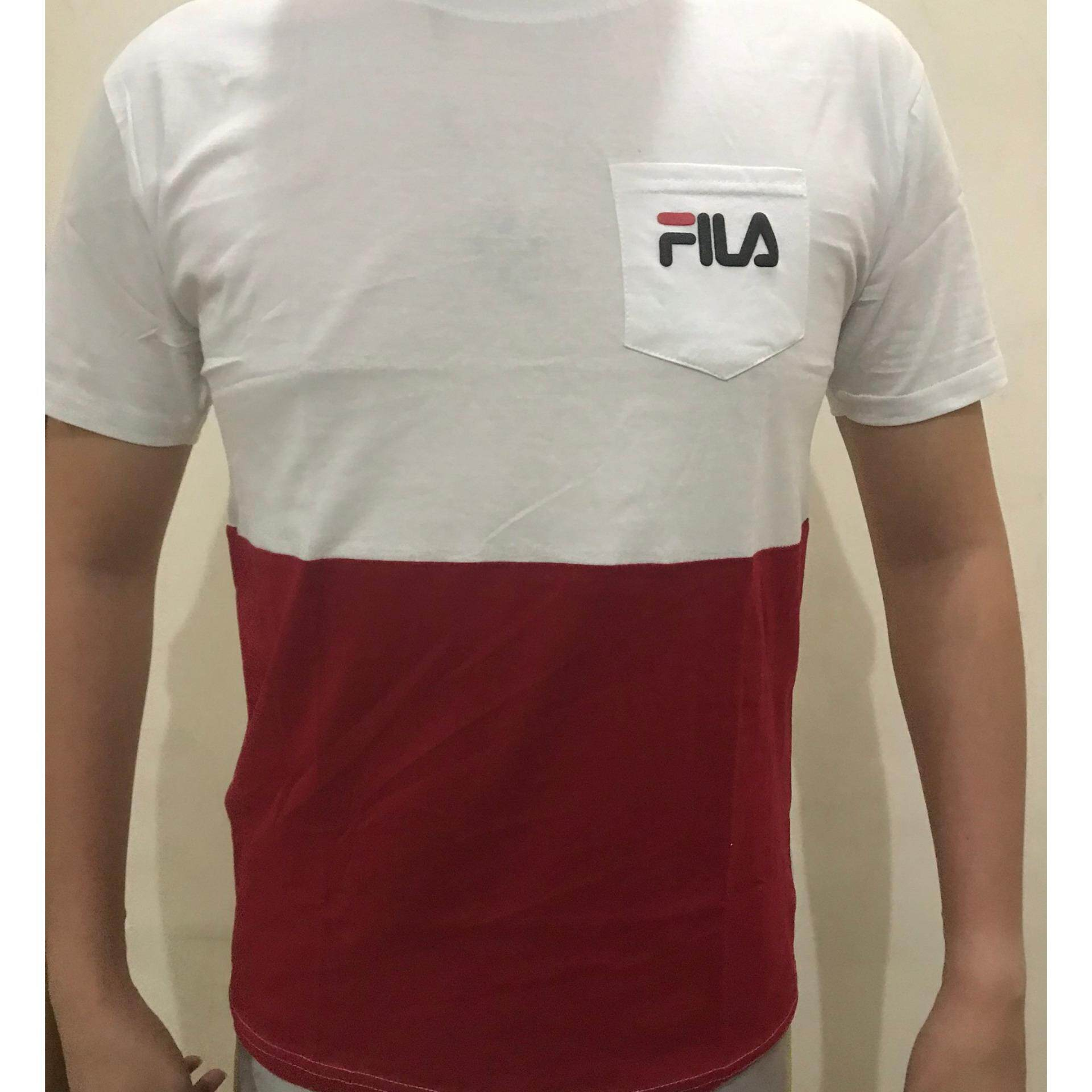 Two tone Fila Short sleeve T shirt