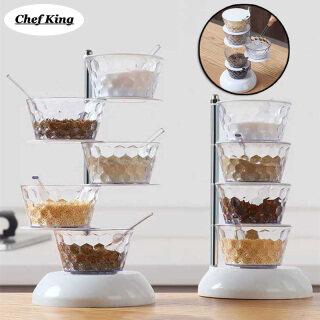 Multi-layer Spice Jar Rotatable Seasoning Box Rack Organizer Household Kitchenware for kitchen thumbnail