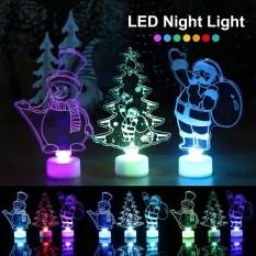 【Lightingeverthing】Christmas Đèn Ngủ LED Người Tuyết Ông Già Noel Giáng Sinh Trang Trí Cây Giáng Sinh Trang Trí, Để Trang Trí Nhà Navidad Đồ Trang Trí Giáng Sinh Năm Mới