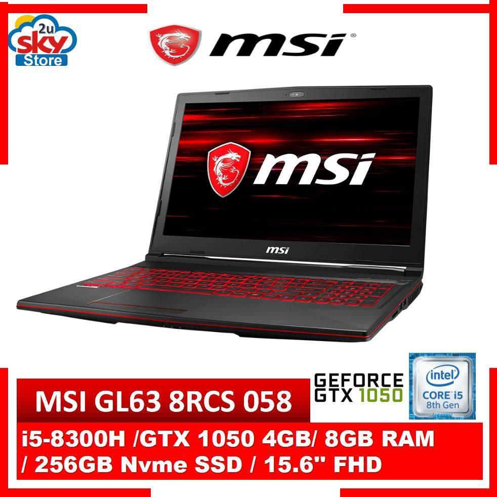 MSI GL63 8RCS-058 15.6 FHD Gaming Laptop Malaysia