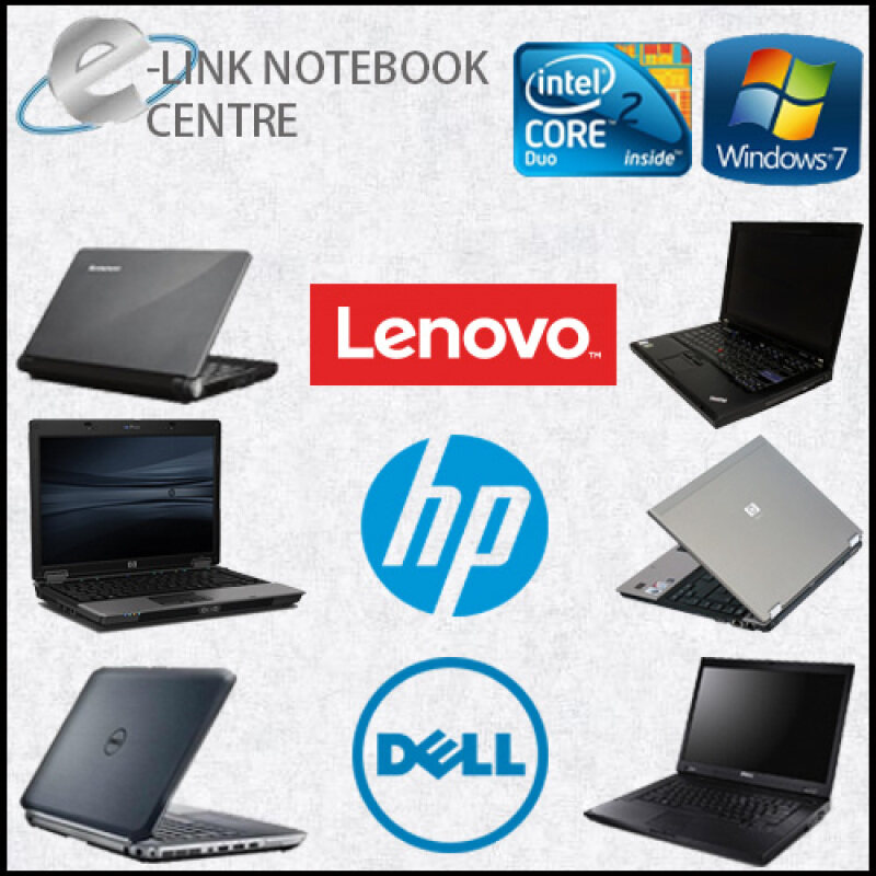 (REFURBISHED) LAPTOP / NOTEBOOK DELL HP LENOVO TOSHIBA C2D DDR2 2GB RAM 80GB HDD (MIX MODEL)(NO BATTERY) FOR STUDY EDUCATION ONLINE Malaysia