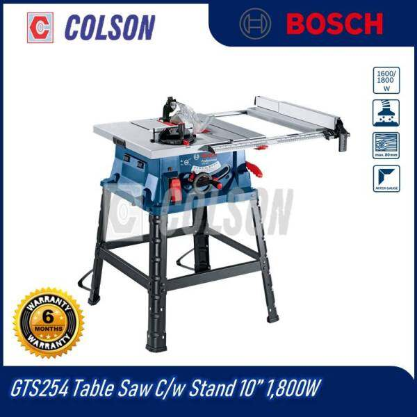 Bosch GTS254 Table Saw 10 c/w stand 1800W 254mm Table Saw