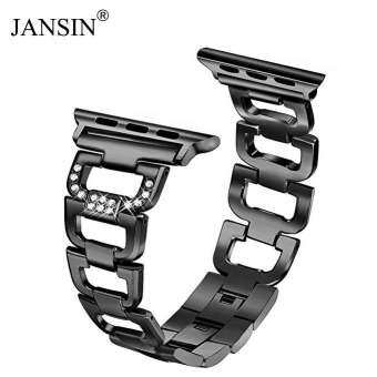 Jansin luxury Diamond Strap For Apple Watch 40mm Metal Stainless Steel strap watch Band For iWatch Series 4 40mm-