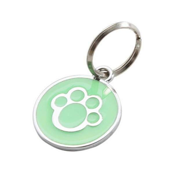 Sguai®Vòng Cổ Chó Mèo Chống Lạc, ID Thẻ Mặt Dây Chuyền Đồ Dùng Thú Cưng In Hình Móng Vuốt Nhỏ