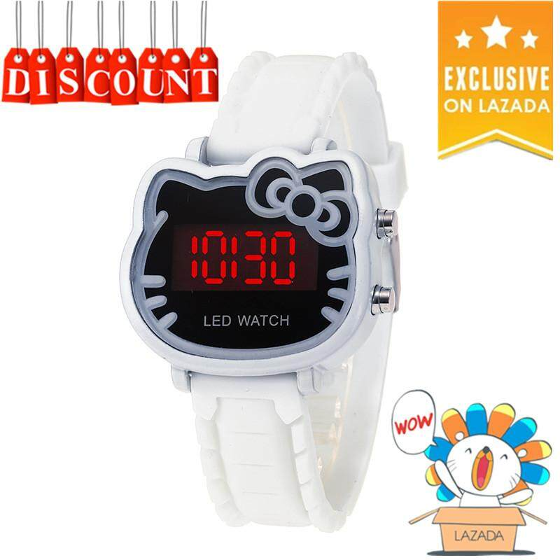 Hello Kitty Watch Women Led Digital Cartoon Wrist Watches Children Girls Casual Womens Clock FWKI 02 Malaysia