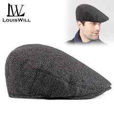 LouisWill Men Berets Hats Cotton Berets Caps Autumn and Winter Berets Outdoor Sunscreen Peaked Caps Fashion England Checkered Golf Flat Caps Casual Hats Berets for Men