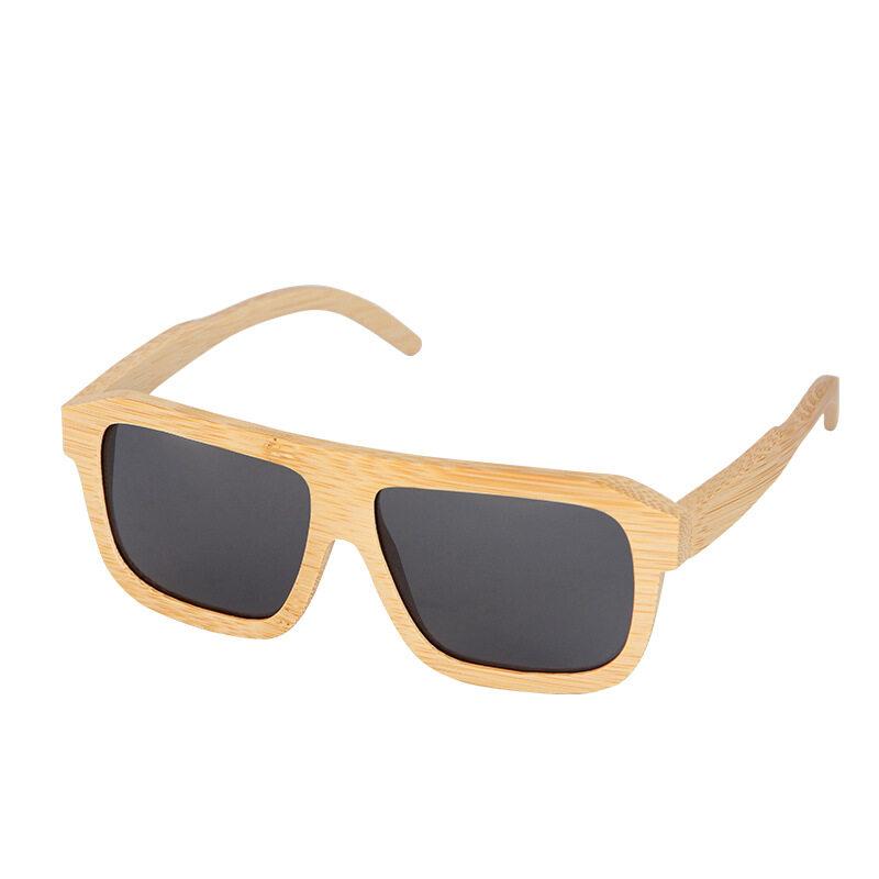 Bamboo Wood Glasses Square Sunglasses UV400 Polarized Sunglasses E-commerce Can