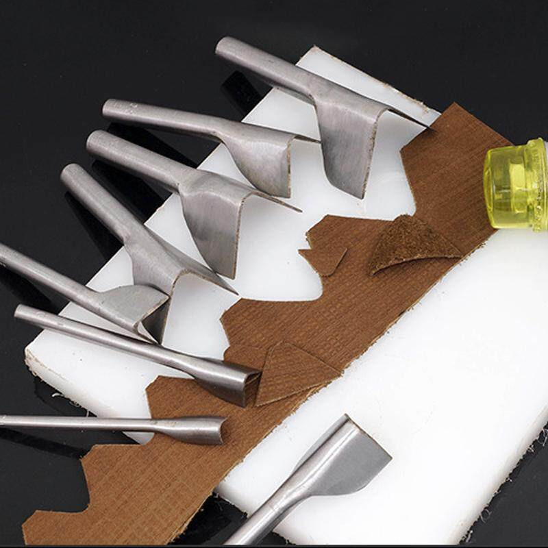 6Pcs/set V Shaped Cutter Punch Leather Handmade Craft Tools Punching Hand Tools 5mm-40mm