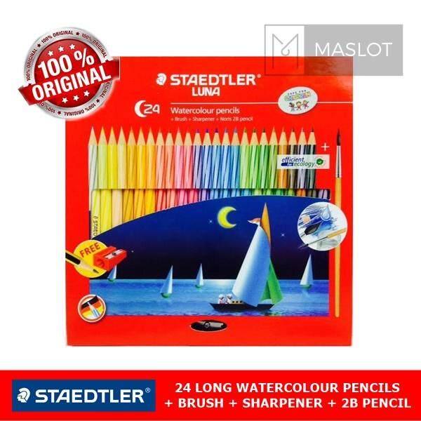 Staedtler Luna 24 Long Premium Watercolour Pencils Set (61set34) By Maslot.