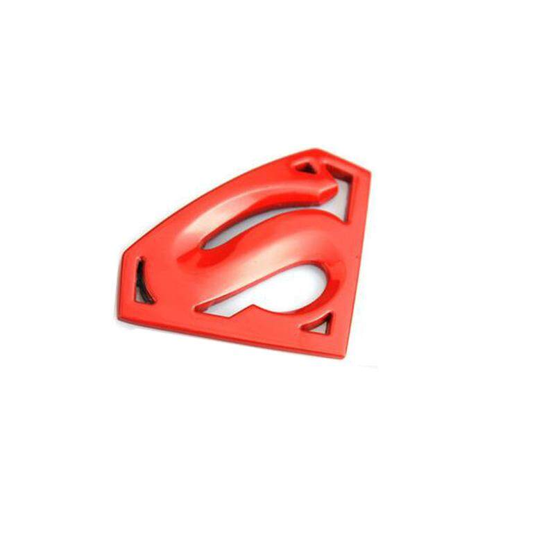Superman Black Chrome Metal Style Emblem Logo Badge Accessory Car Decoration Stickers-M-Red By Pinmay.