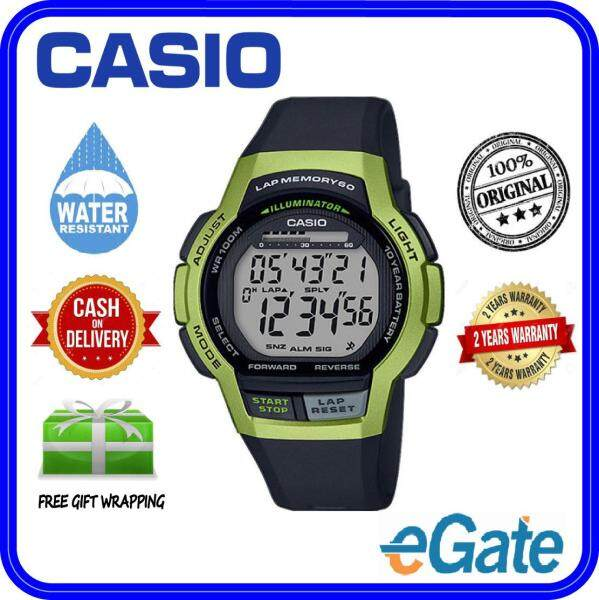 ( 2 YEARS WARRANTY ) Casio WS-1000H-3A Men & Kids Youth Design Sporty Classic Black Resin Band Original Casual Watch (WS-1000H) Malaysia